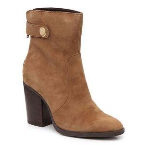 ME TOO Women's Tara Caramel Suede Ankle Booties